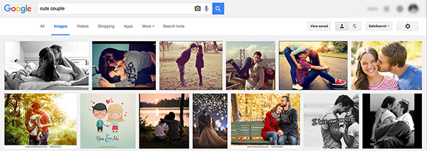 Google search for Cute Couples
