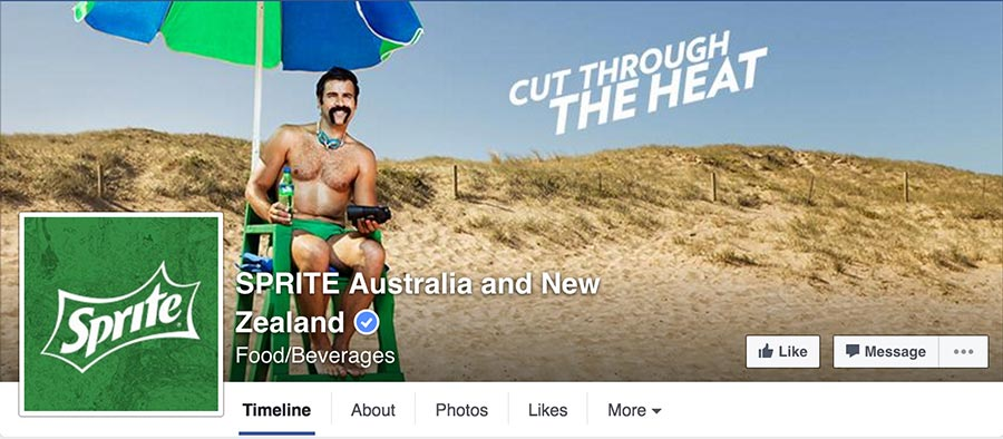 Sprite facebook cover photo in 2016